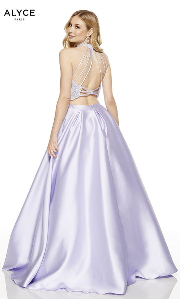 Alyce Paris Formal Dress: 60615. Long, Halter, Medium Fullness