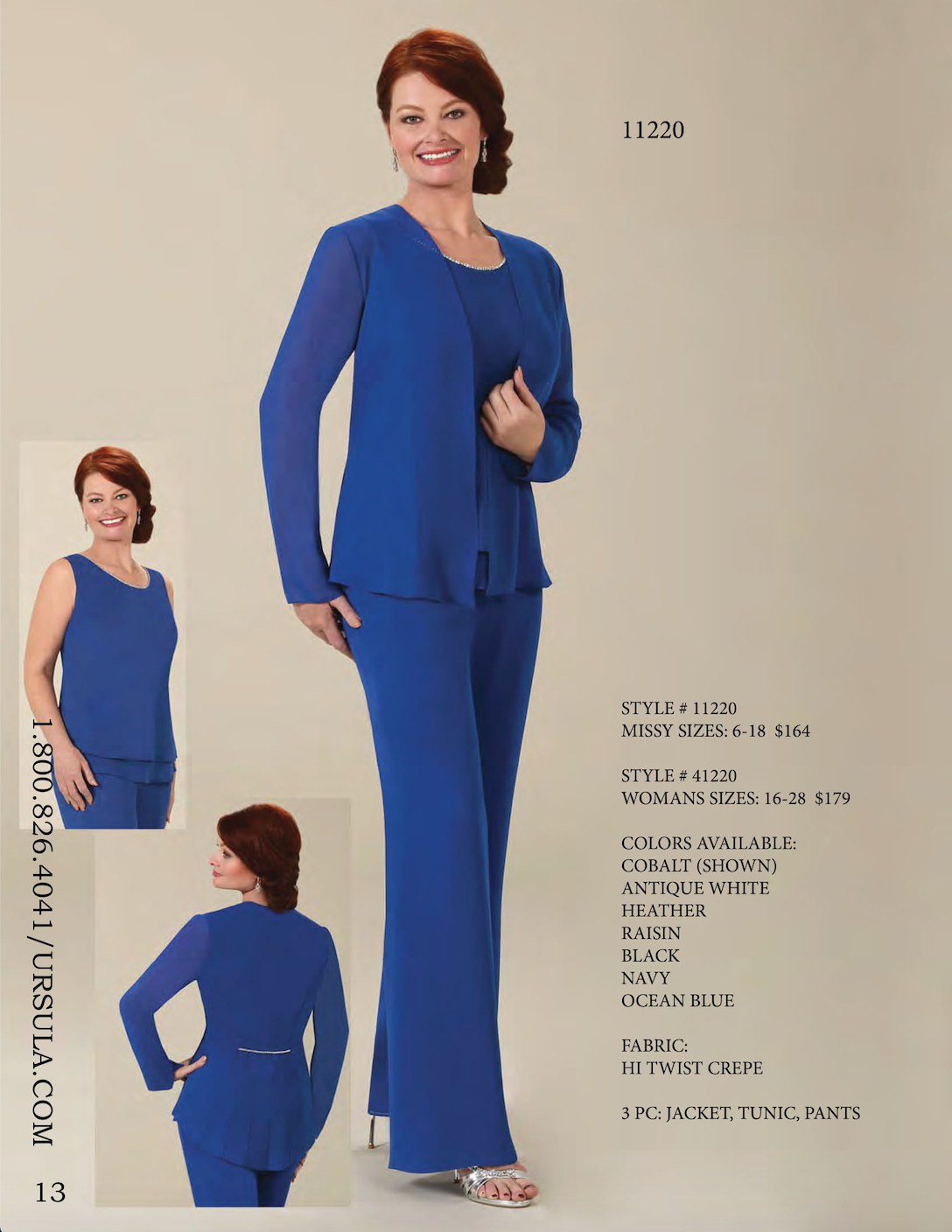 STYLE # 41220 URSULA  WOMANS SIZES