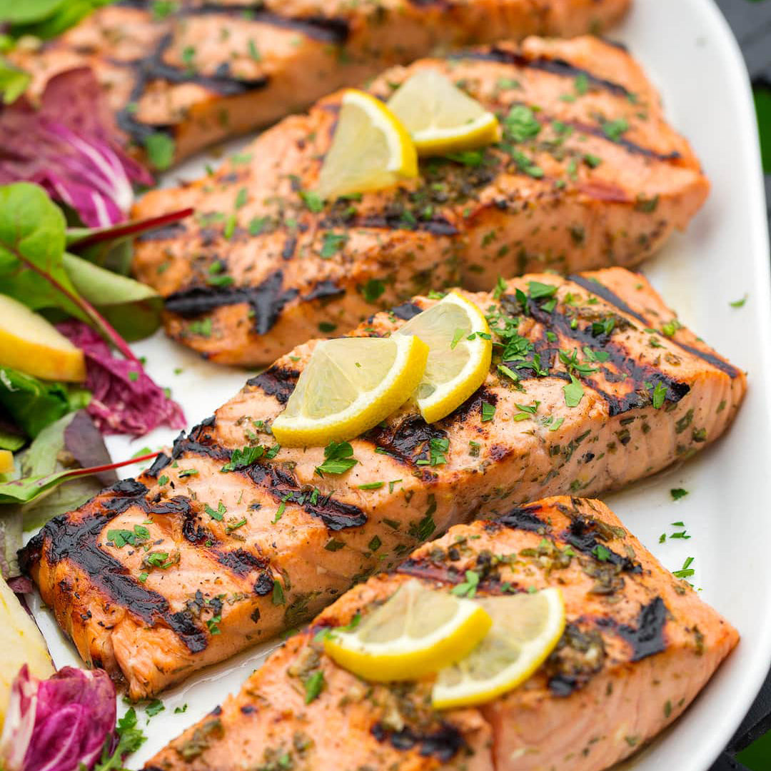 Grilled Salmon with Lemon Pepper • (25 Guest Minimum)