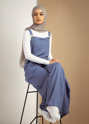 Dungaree Jumpsuit Blue Cab