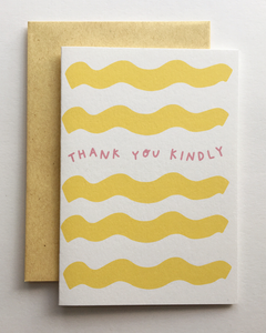 ALLIE BIDDLE Thank You Kindly Greeting Card