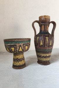 Italian art pottery - compote and jug