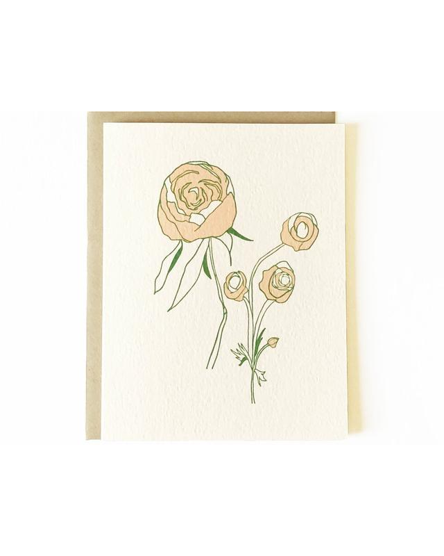 NICOLE MONK Peonies Greeting Card