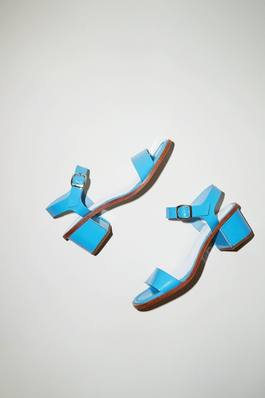 No.6 Palermo Sandal in Cornflower Blue