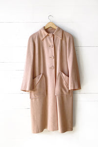 pledgemade 40's pink wool coat
