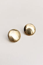Load image into Gallery viewer, Vintage 12k GF Round Sunburst Studs