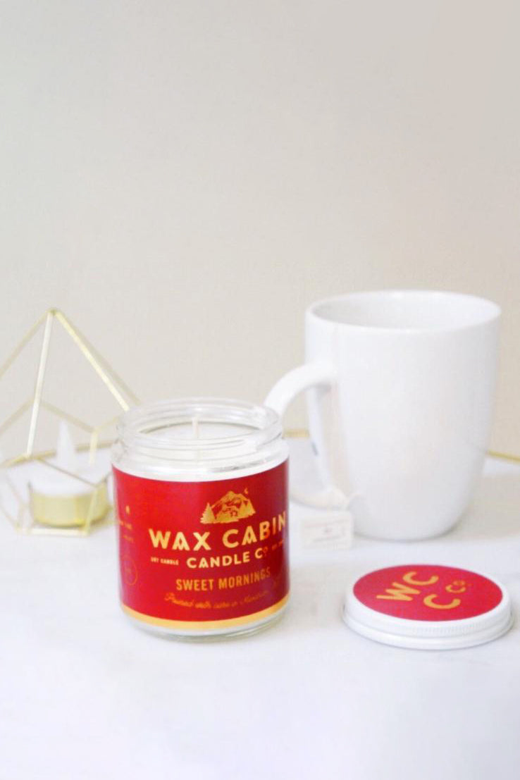 WAX CABIN CO. Sweet Mornings Soy Candle
