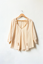 Load image into Gallery viewer, VOLOSHIN Taara Popover Peasant Blouse - Jaipur Blush