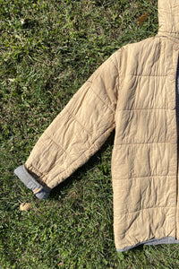 Vintage Taupe Quilted Coat