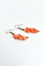 Load image into Gallery viewer, Vintage Branch Coral Drop Earrings