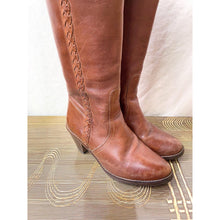 Load image into Gallery viewer, Vintage Boho Leather Cowboy Boots, Size 7