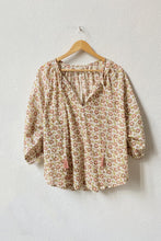 Load image into Gallery viewer, VOLOSHIN Taara Popover Peasant Blouse - Blush Prairie Floral