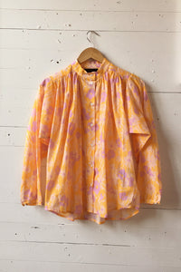 No.6 Quinn Blouse in Apricot Meadow