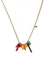 Load image into Gallery viewer, I. RONNI KAPPOS Mini Rainbow Necklace