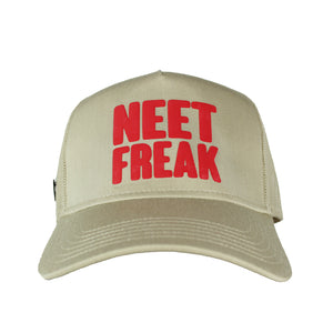 Mesh Trucker Hat (Tan/Red)