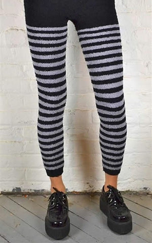 HORIZONTAL TERRY CLOTH STRIPES FOOTLESS