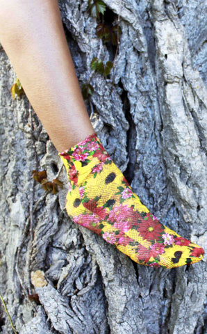 SUNFLOWER ANKLE SOCKS