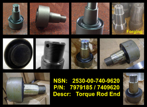 8 each Torque Rod End / Insert; M939 M800 5TON ; 2530007409620 7979185 A2110L116