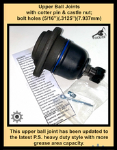 "Load image into Gallery viewer, UPPER BALL JOINT 5/16""holes; M998 early model; 2530011883685  12338325  5992380"