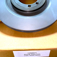 "Load image into Gallery viewer, 12""-VENTED ROTOR , BRAKE; Humvee ; 6002218  2530-01-420-7904  12460251  BD126583"