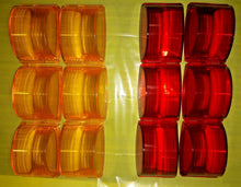 Load image into Gallery viewer, Lot of 12 lenses - 6 AMBER + 6 RED - MARKER LIGHT LENSES ; MS35421-1 & MS35421-2