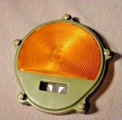 Parking Light 'LENS only' , 383 Green Housing - Amber Lens ;  12432440 (PLASTIC)