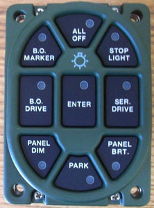 SWITCH , 24V MASTER LIGHT {Button Digital); Common ; 12484558  5930-01-491-9893