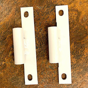 2 each- White- Hinges, X-Door or Soft Door- Bodyside; Hummer; 12338650-2 5575449
