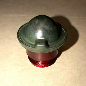 RED LENS w/Solid GREEN CAP for INDICATOR LIGHT ;  7358621  6210-00-337-7345
