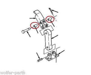 2 ea - Roller / Spacer , Hood Latch ; Humvee ; 12338886 5588178 5365-01-212-4736