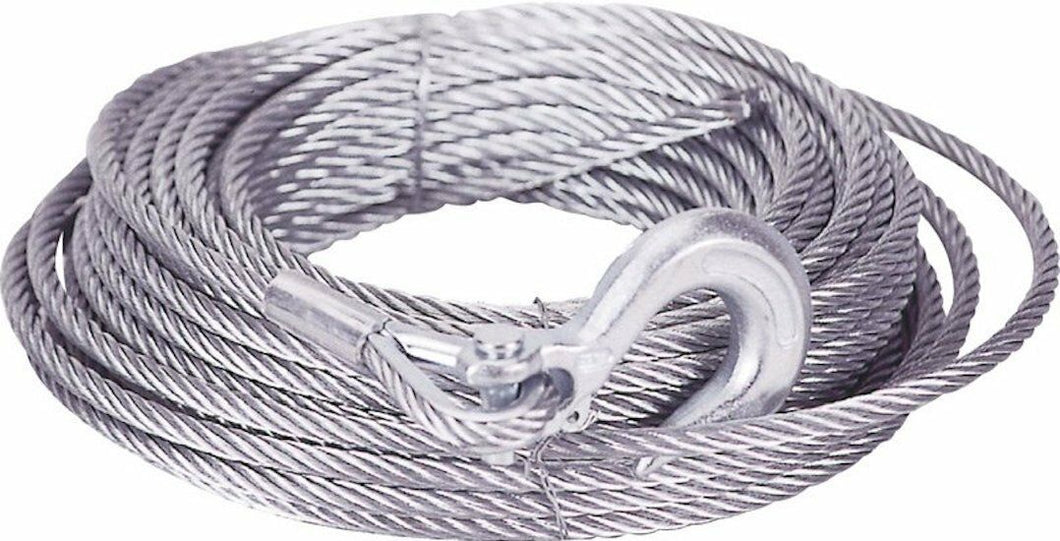 100' Winch Cable w/ Hook - .375