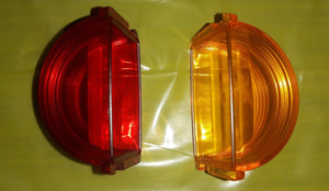 1 RED & 1 AMBER  MARKER LIGHT LENS ; MS35421-1 & MS35421-2
