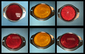 6 each- Reflectors- 4-Red + 2-Amber; HumVee M998 ; 12342500-1 & 12342500-2