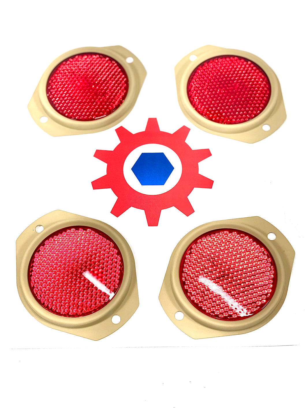 4 each - Reflector-RED (686 TAN FRAME); M998 HUMVEE ; 12342500-1 9905-01-478-4267