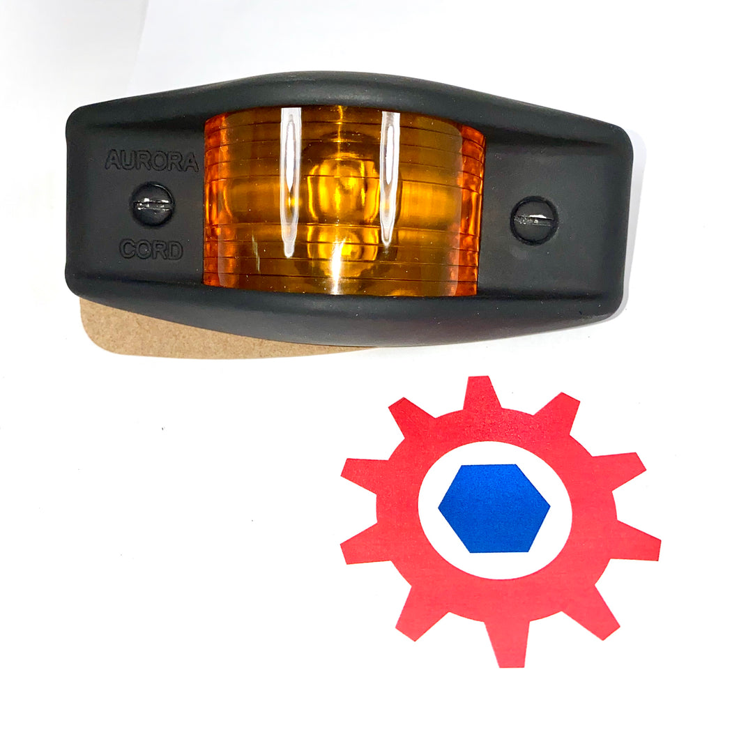 Side Clearance Light, 911 FLAT BLACK Housing , Amber Lens, LED-24V; MS35423-1 w/LED