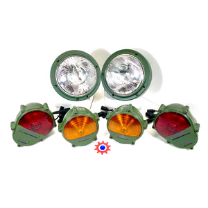 Set of 2 - Headlight Asm., 2 - Taillights, & 2 - Parking Lights  M939  M35  M998