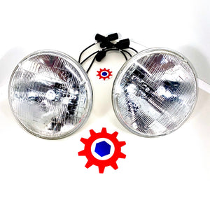 2 each- Headlights 28v 60w; 8741491 MS18008-4863 6240009663831 A-A-2044 A-A-2072