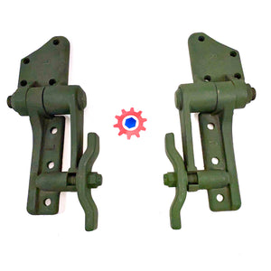1 Set = LH & RH - WINDSHIELD HINGES, OUTER ; 5Ton or 2.5Ton ; 7373321 & 7373322