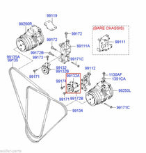 Load image into Gallery viewer, PULLEY ASSEMBLY , TENSION  ;  991325A511  , 99132-5A511  ;  KIA  ,  HYUNDAI