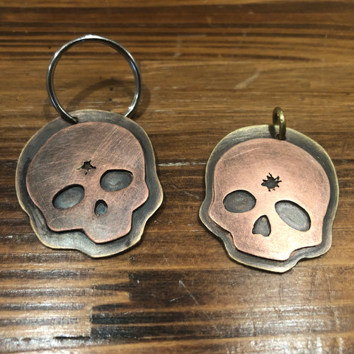 Lights Out Skull Pendant