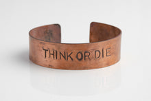 "Load image into Gallery viewer, ""Think or Die"" Bracelet"