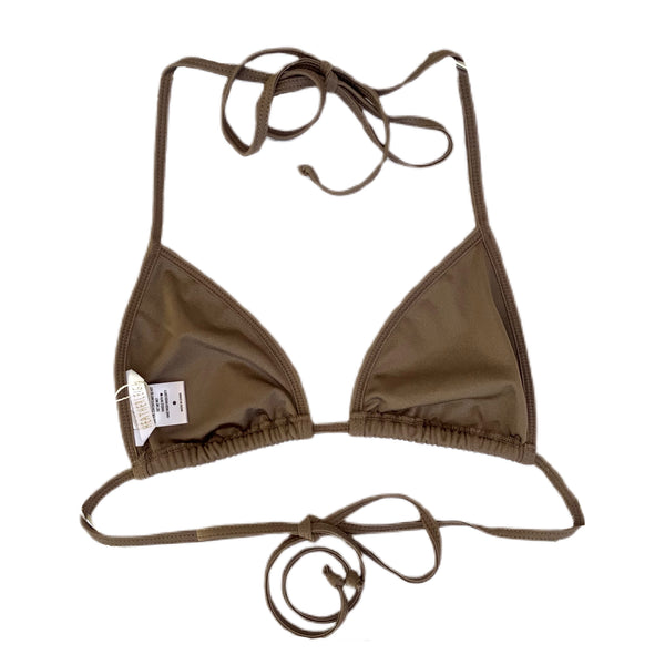 brown string bikini top