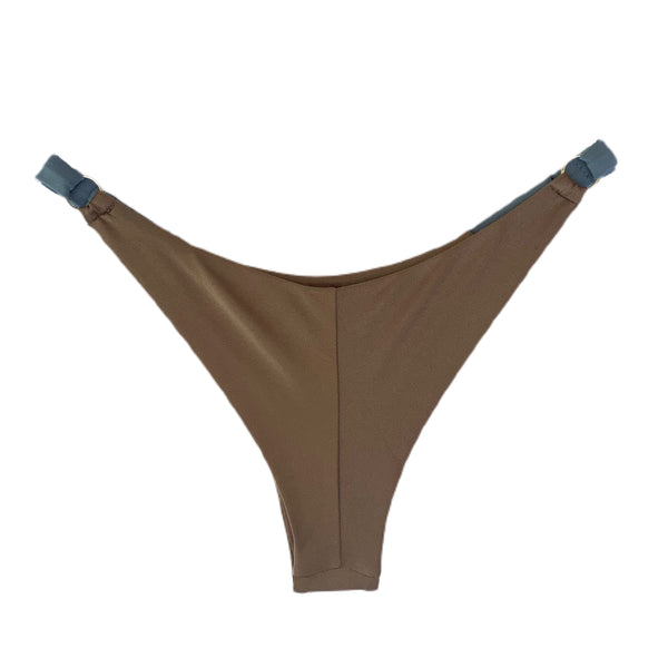 brown cheeky string bikini bottom - HeatherLeigh Swimwear