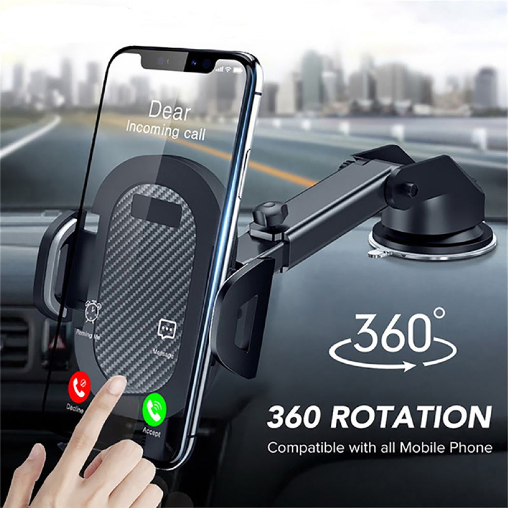 Universal Car Phone Holder With 360° Rotation