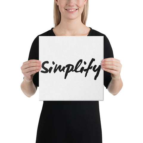 Simplify Canvas Print | A Quiet Reminder In a Busy World