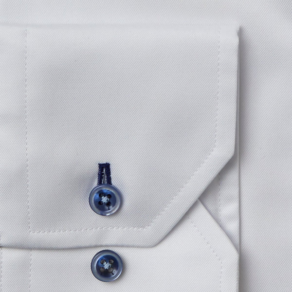 Stenstroms White Fitted Body Dress Shirt