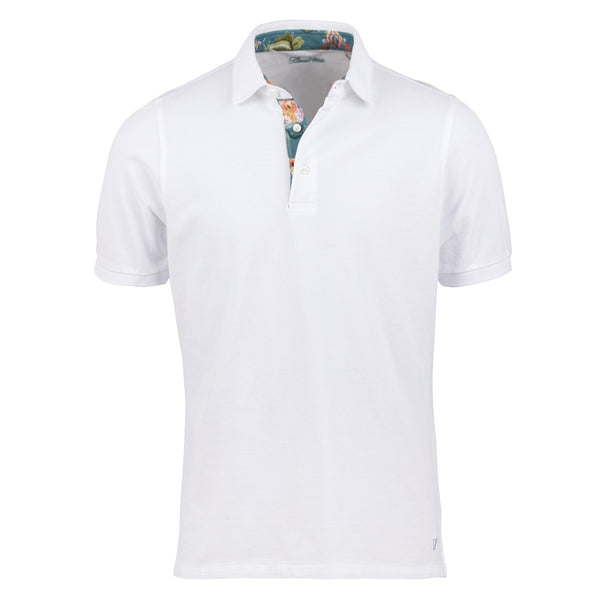 Stenstroms White Polo Shirt With Contrast