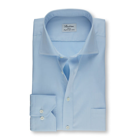 Stenstroms Solid Blue CLASSIC FIT Dress Shirt
