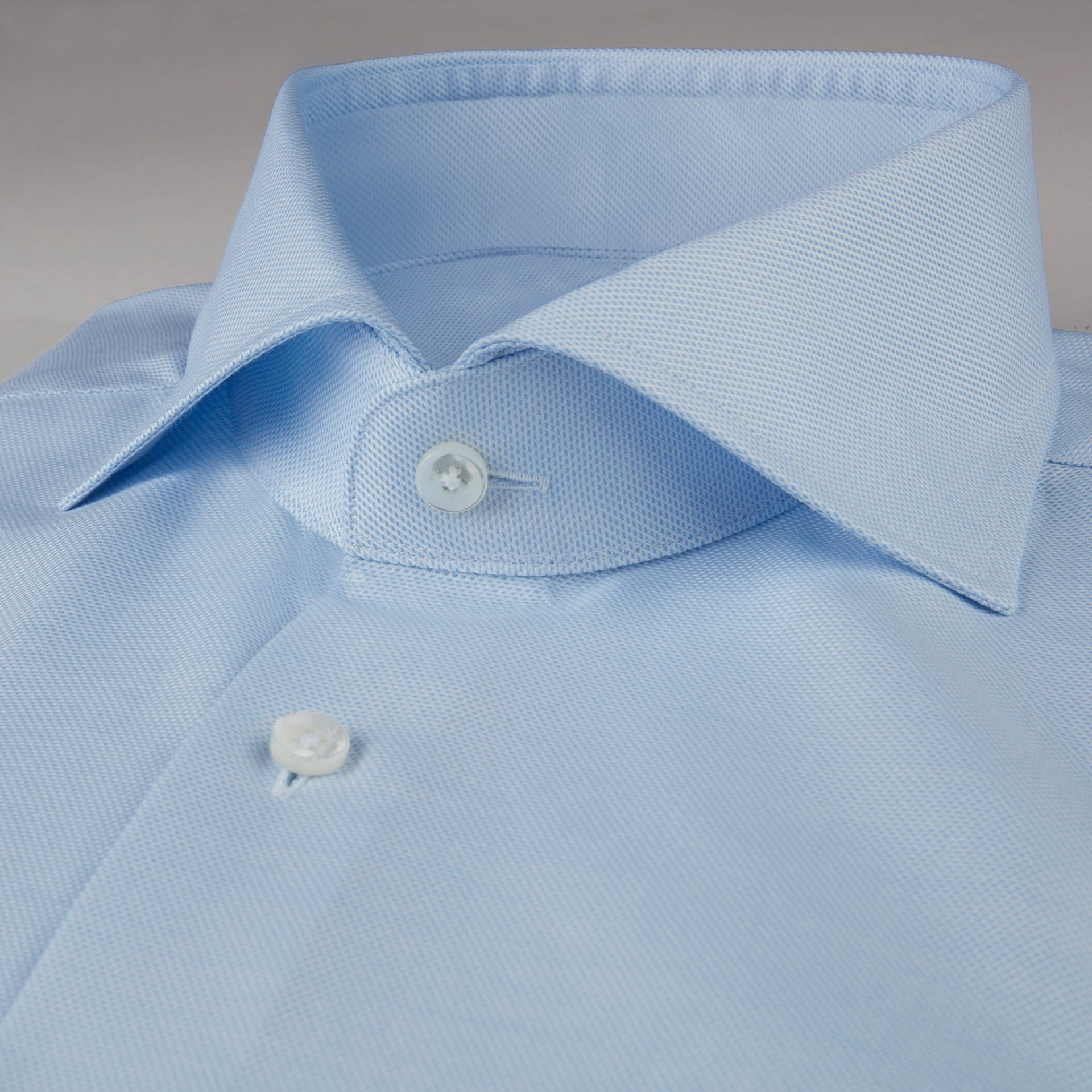 Stenstroms Light Blue Textured Fitted Body Shirt