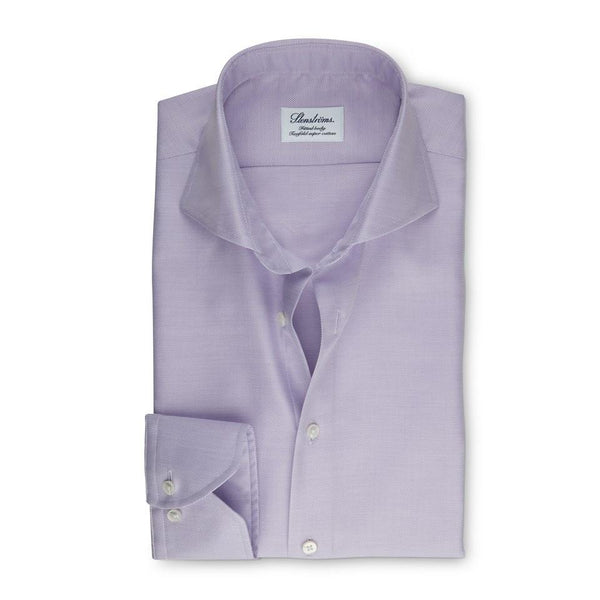 Stenstroms Lavender Textured Fitted Body Shirt